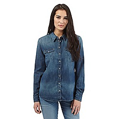 Wrangler - Navy denim shirt