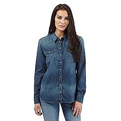Wrangler - Navy denim shirt