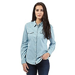 Wrangler - Light blue denim shirt
