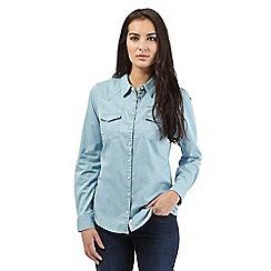 Wrangler - Light blue denim shirt