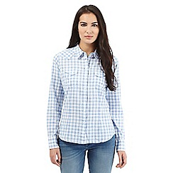 Wrangler - Blue checked skirt