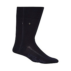 Levi's - Pack of two plain navy socks