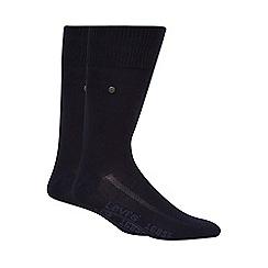 Levi's - Pack of two plain navy socks