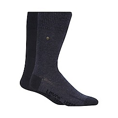 Levi's - Pack of two plain blue socks