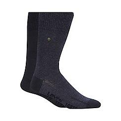 Levi's - Pack of two plain blue socks