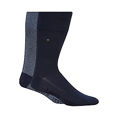 Levi's - Pack of two plain light blue socks
