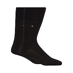 Levi's - Pack of two plain black socks