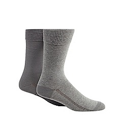 Levi's - Pack of two plain grey socks