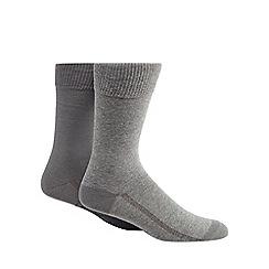 Levi's - Pack of two plain grey socks