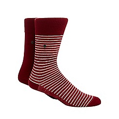 Levi's - Pack of two red striped socks