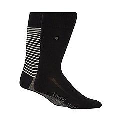 Levi's - Pack of two black striped socks