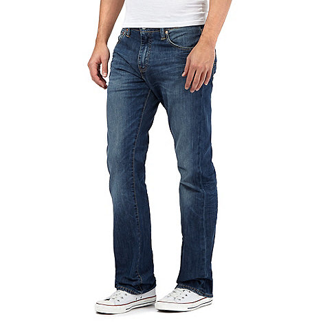 Levi+s - 527&#8482 mostly mid blue bootcut jeans