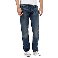 Levi's - Big and tall 501® hook mid blue straight leg jeans