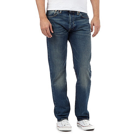 Levi+s - 501® hook mid blue straight leg jeans