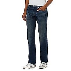 Levi's - 504&#8482 blue vintage wash straight leg jeans
