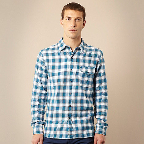Levi+s - Blue brush checked long sleeved shirt