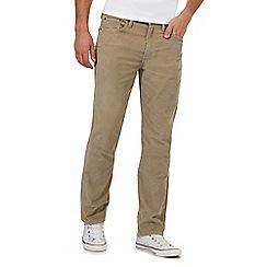 Levi's - Beige 501 corduroy straight leg jeans