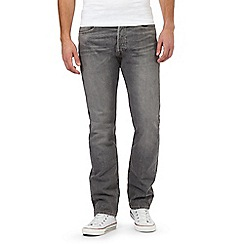 Levi's - Grey 501® straight leg stretch jeans