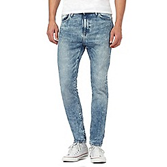 Levi's - Light blue 501® acid wash skinny jeans