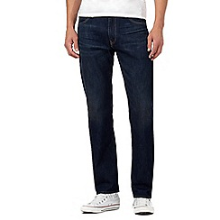 Levi's - Dark blue 504 vintage wash straight leg jeans
