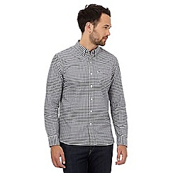 Levi's - Blue chest pocket checked long sleeve shirt