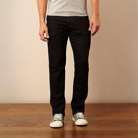 Wrangler - Arizona rinsewash dark blue straight leg jeans