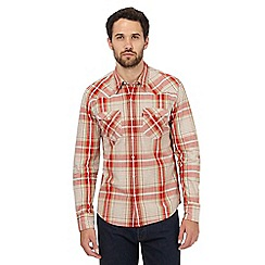 Levi's - Red checked print western shirt