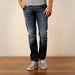 Wrangler - Dark blue Ben straight leg jeans