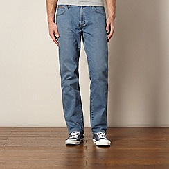 Wrangler - Utah stonefade blue regular fit jeans