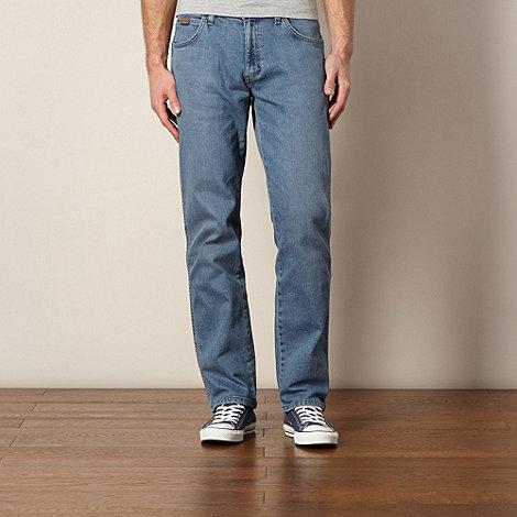 Wrangler - Utah stonefade blue regular fit jeans