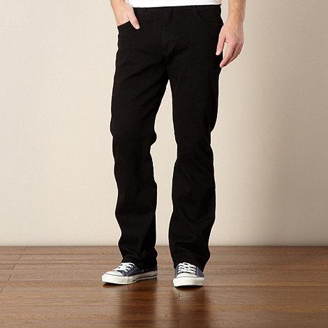 Wrangler - Big and tall Utah black straight leg jeans