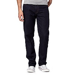 Wrangler - Big and tall Texas darkstone rinse dark blue regular fit jeans