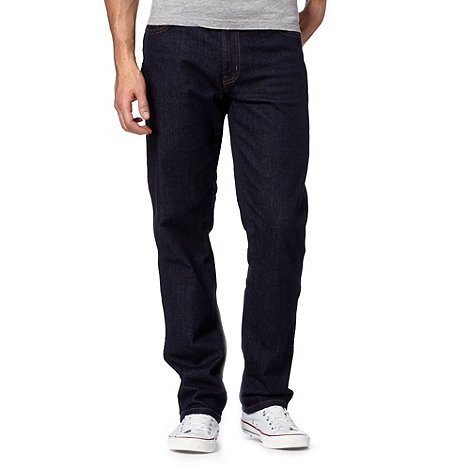 Wrangler - Texas darkstone rinse dark blue regular fit jeans