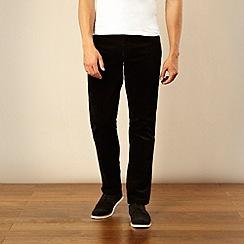 Wrangler - Black cord straight leg trousers