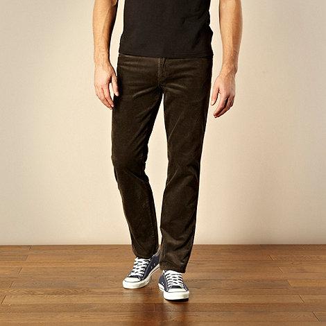 Wrangler - Dark green Texas jumbo cord trousers