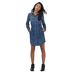 Levi's - Blue denim western shirt dress