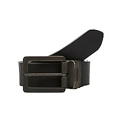 Wrangler - Big and tall black reversible leather belt