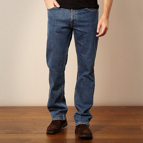 Lee - Brooklyn mid blue straight leg jeans