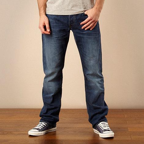 Lee - Blake mid blue straight leg jeans