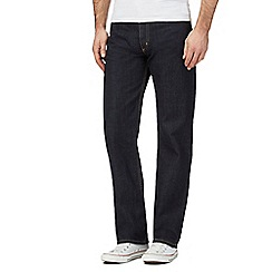 Lee - Big and tall Brooklyn one wash regular fit dark blue jeans