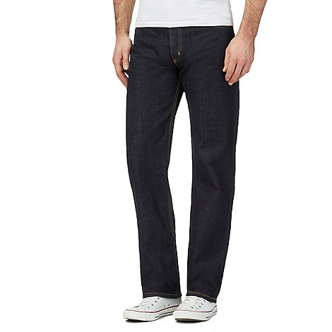 Lee - Brooklyn one wash regular fit dark blue jeans