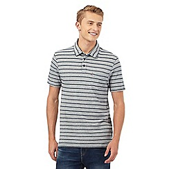 Levi's - Grey textured striped print polo shirt