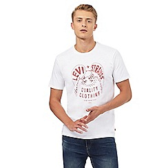 Levi's - White eagle eye printed t-shirt