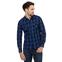 Levi's - Blue checked print western shirt
