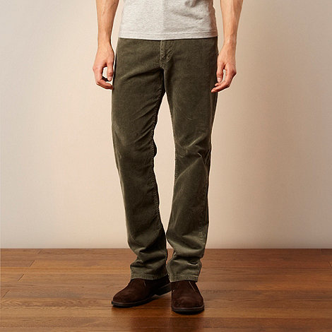 Lee - Brooklyn dark green corduroy trousers