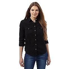 Levi's - Black 'Mod Western' denim shirt
