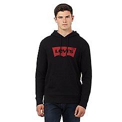 Levi's - Black logo print hoodie