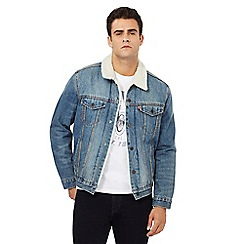 Levi's - Blue stonewash sherpa lined denim jacket