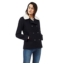 Levi's - Navy double breasted coat