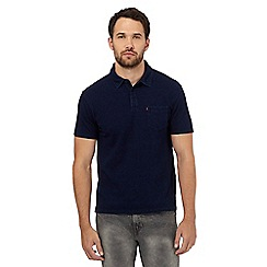 Levi's - Dark blue chest pocket polo shirt